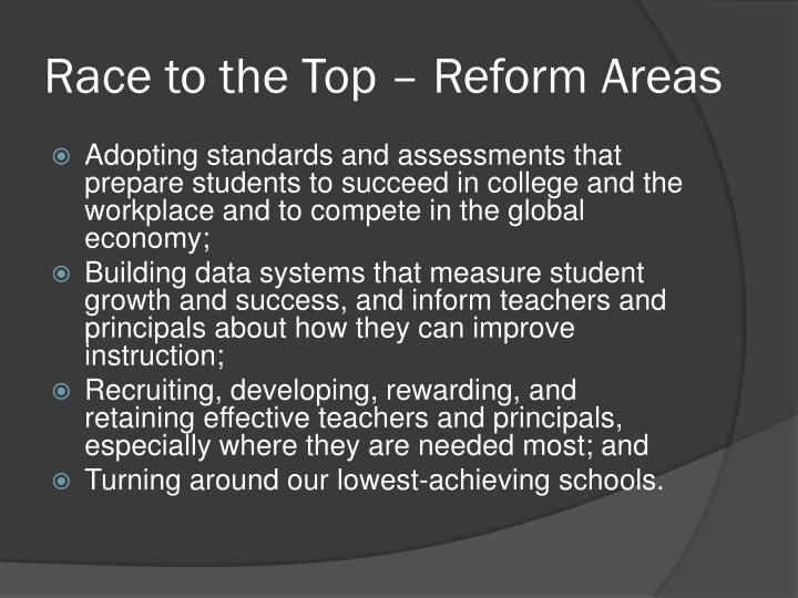 Race to the Top – Reform Areas