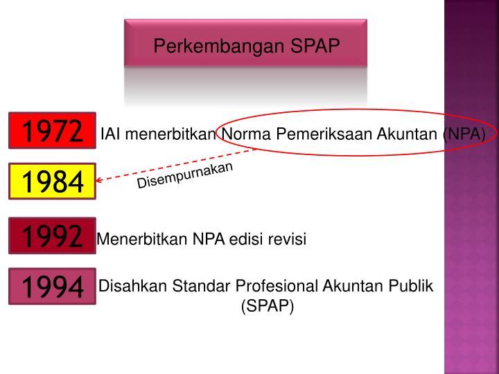 Perkembangan SPAP