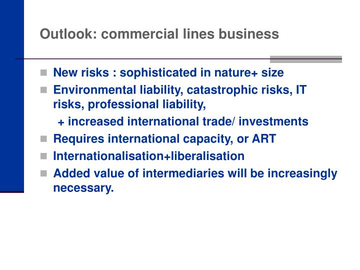 Outlook: commercial lines business