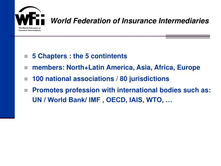 World Federation of Insurance Intermediaries