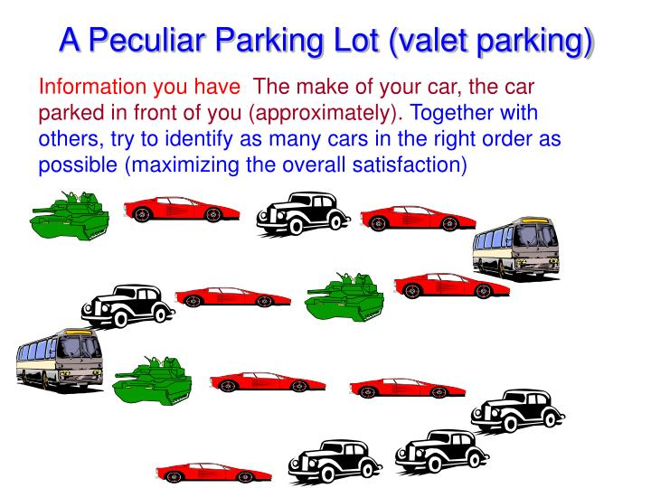 A Peculiar Parking Lot (valet parking)