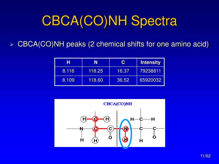 CBCA(CO)NH Spectra
