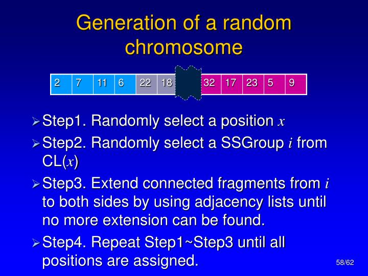 Generation of a random chromosome