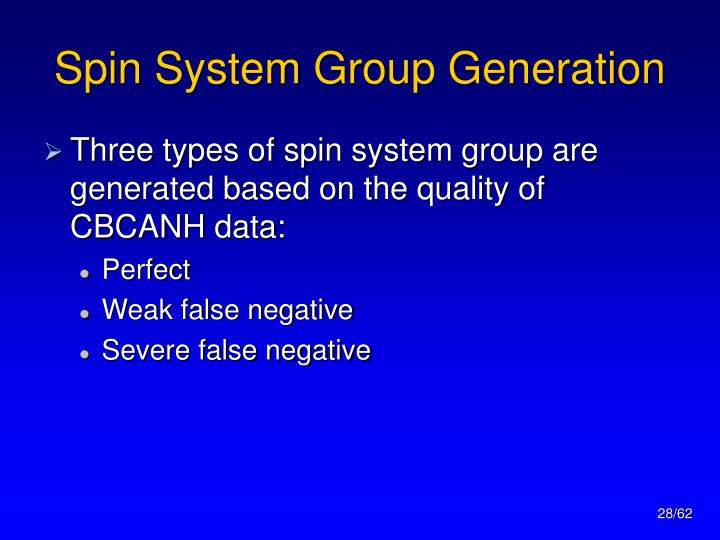 Spin System Group Generation