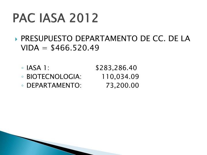PAC IASA 2012