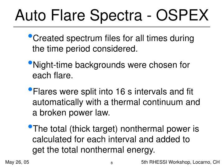Auto Flare Spectra - OSPEX