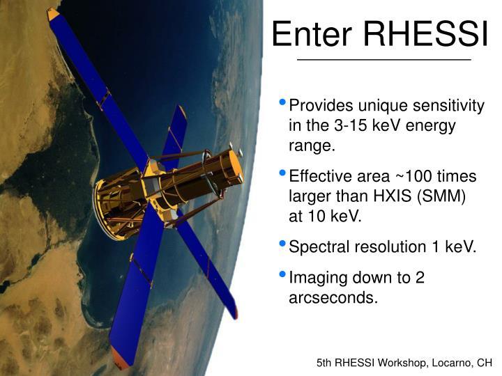 Enter RHESSI
