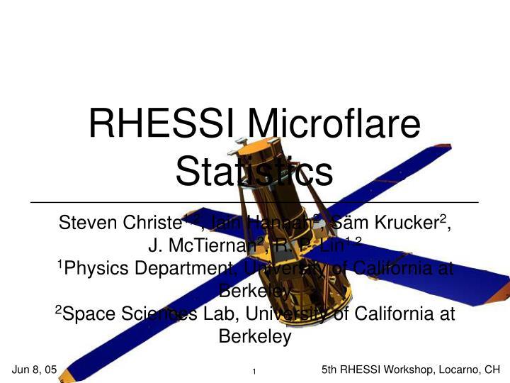 RHESSI Microflare Statistics