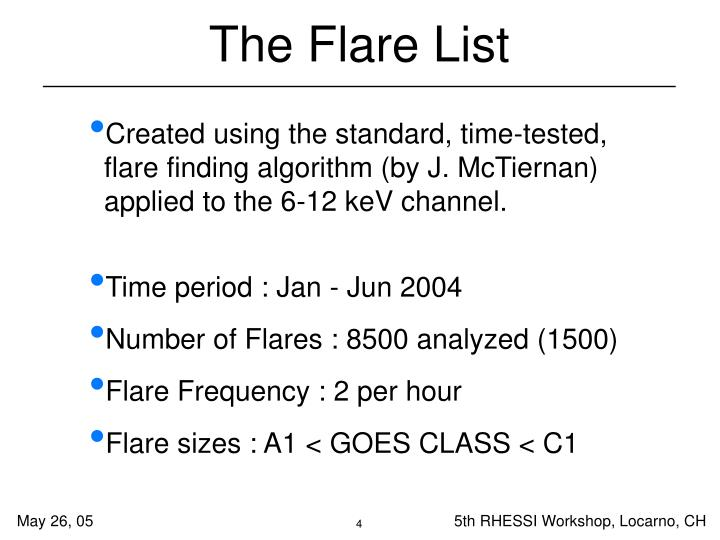 The Flare List