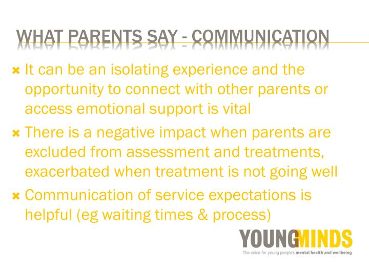 It can be an isolating experience and the opportunity to connect with other parents or access emotional support is vital