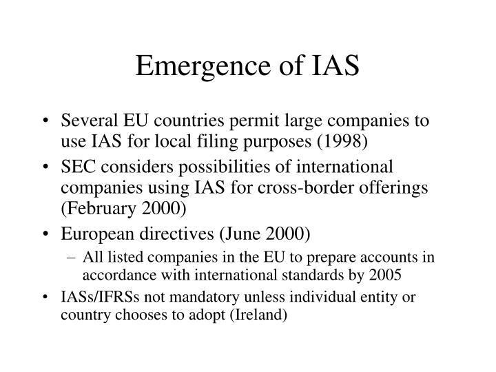 Emergence of IAS