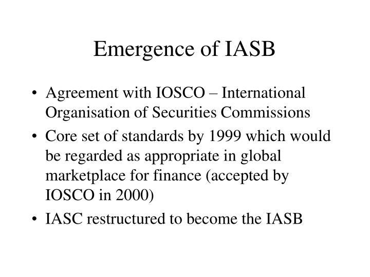 Emergence of IASB