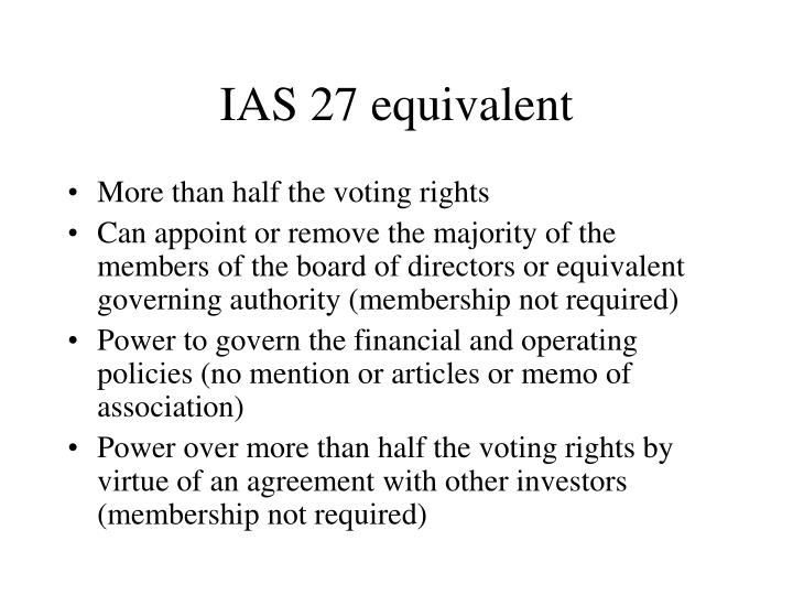 IAS 27 equivalent