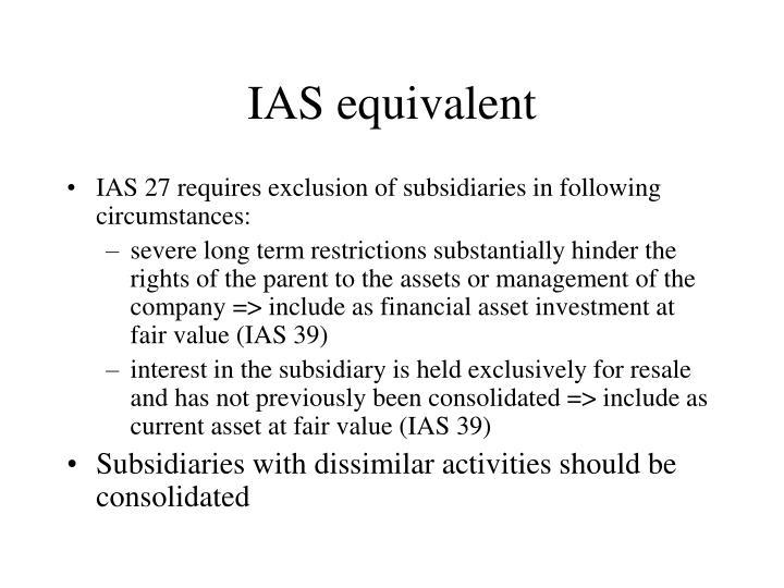 IAS equivalent