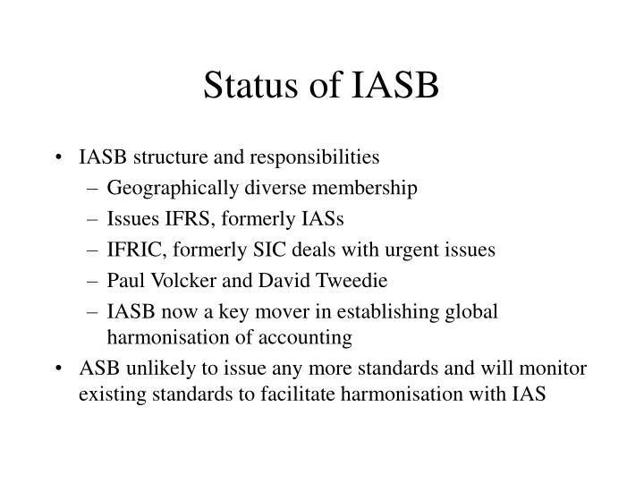 Status of IASB