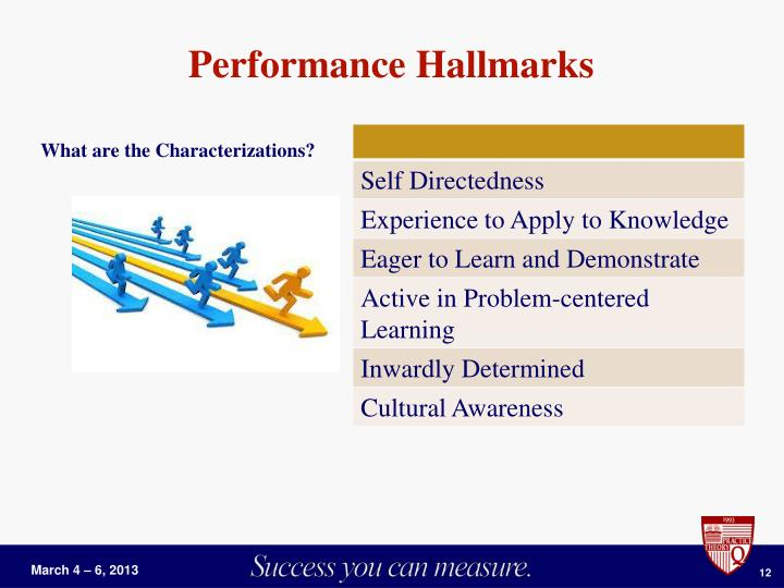 Performance Hallmarks