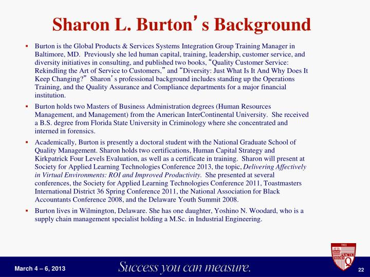 Sharon L. Burton