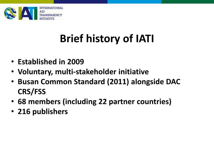 Brief history of iati
