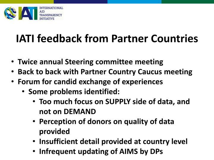 IATI feedback from Partner Countries