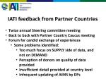 iati feedback from partner countries
