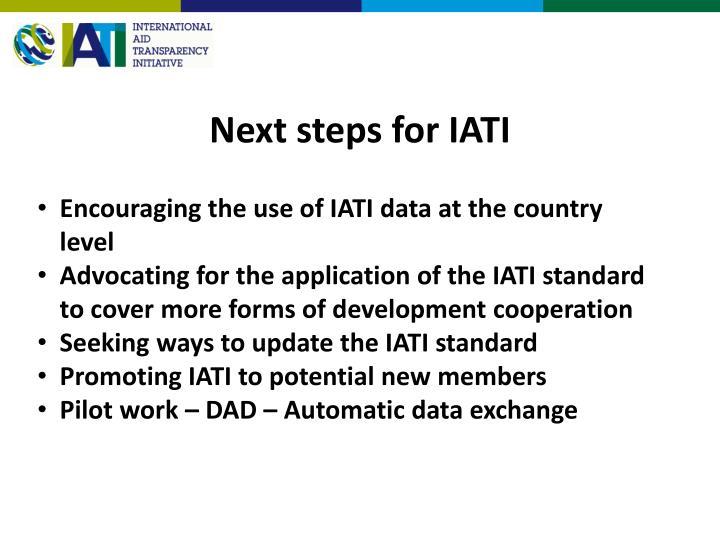 Next steps for IATI