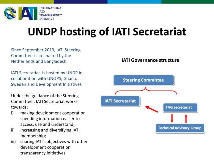 UNDP hosting of IATI Secretariat