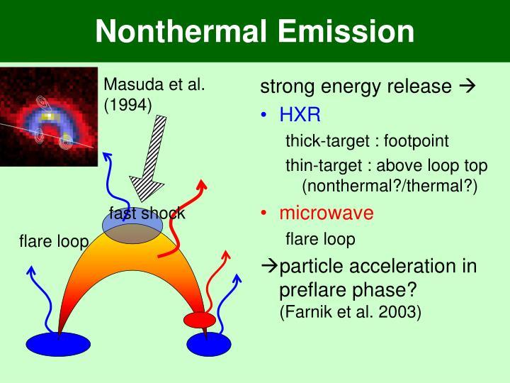 Nonthermal Emission