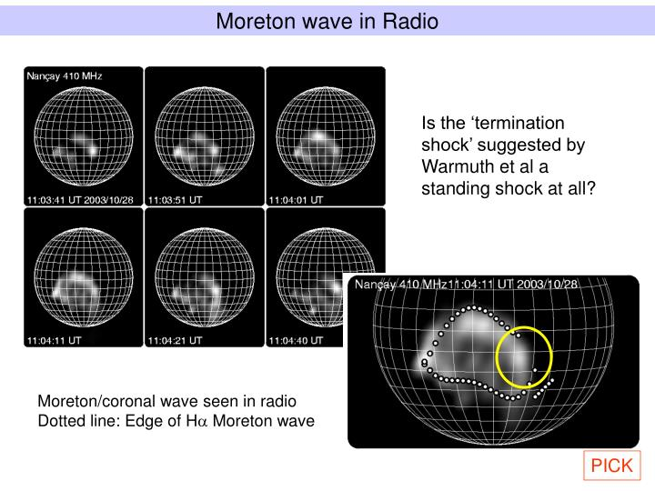Moreton wave in Radio