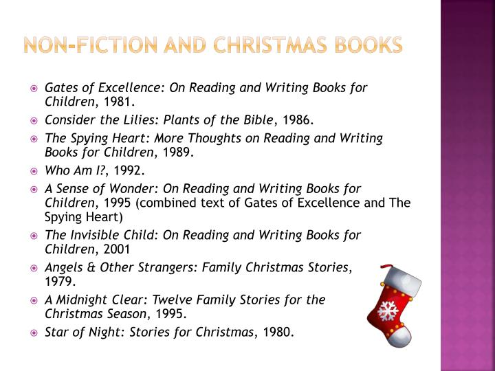 non-fiction and Christmas books