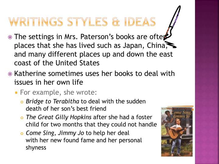 Writings Styles & ideas