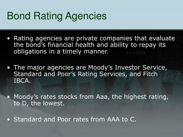 Bond Rating Agencies