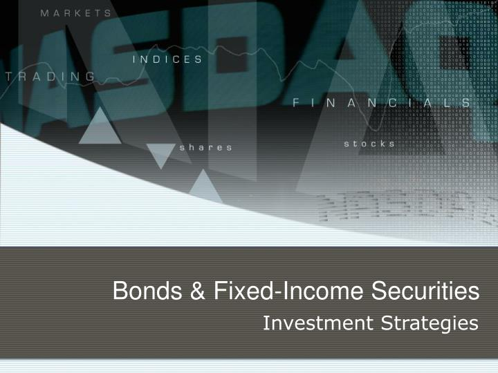 Bonds fixed income securities