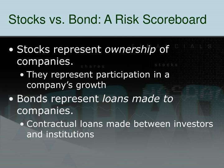 Stocks vs bond a risk scoreboard