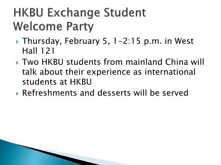 HKBU Exchange Student