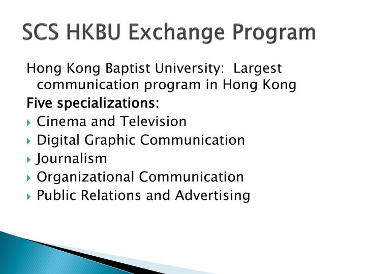 SCS HKBU Exchange Program