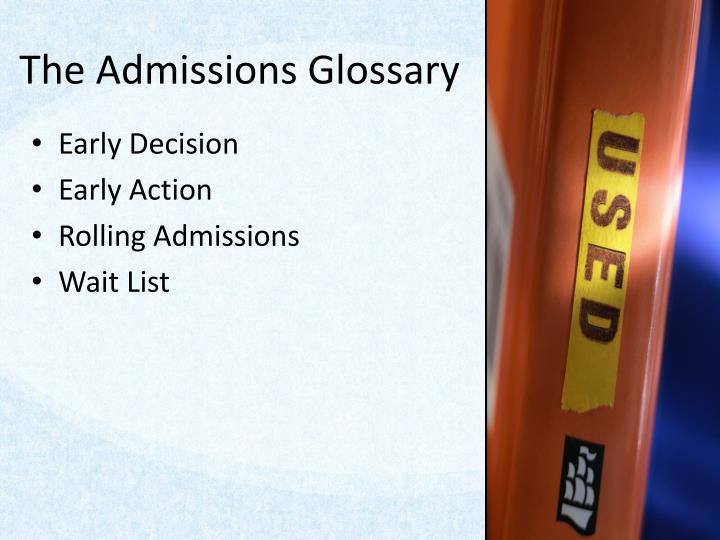 The Admissions Glossary