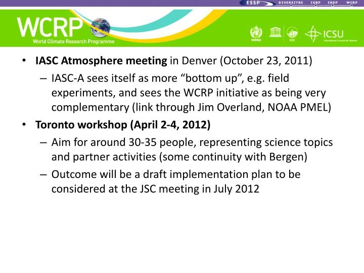 IASC Atmosphere meeting