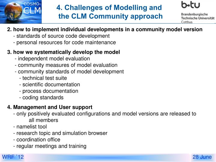 4. Challenges of Modelling and