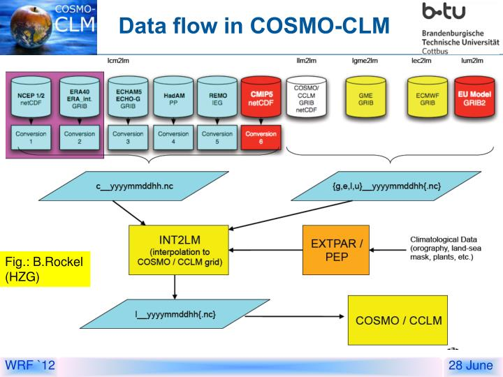 Data flow in COSMO-CLM