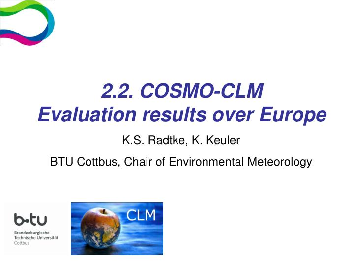 2.2. COSMO-CLM