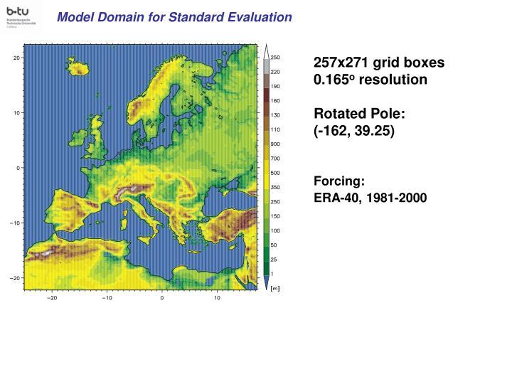 Model Domain for Standard Evaluation