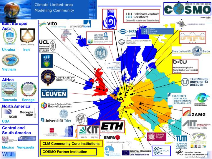 CLM Community Core Institutions