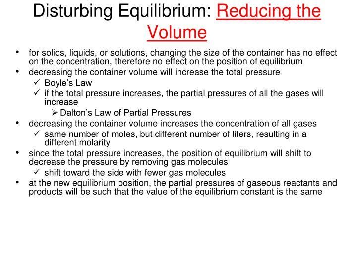 Disturbing Equilibrium: