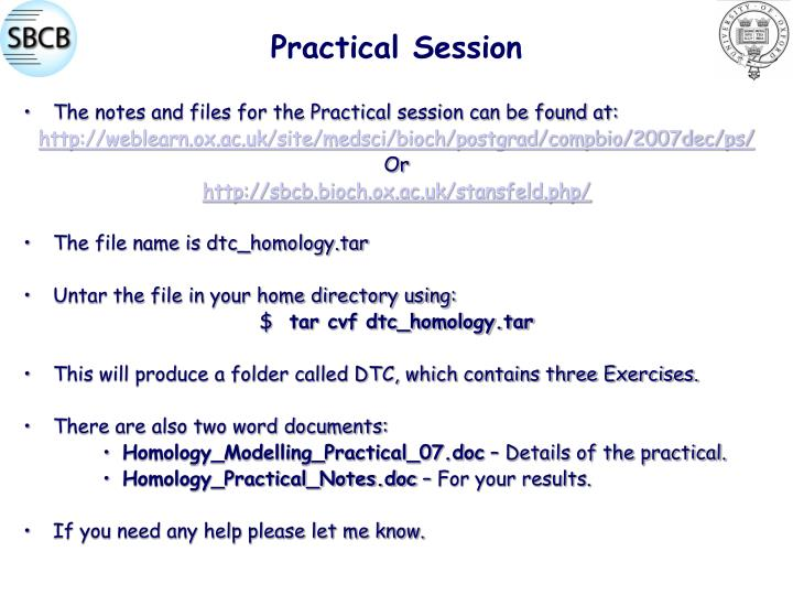 Practical Session