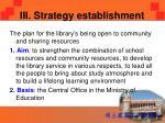 iii strategy establishment1