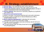 iii strategy establishment3
