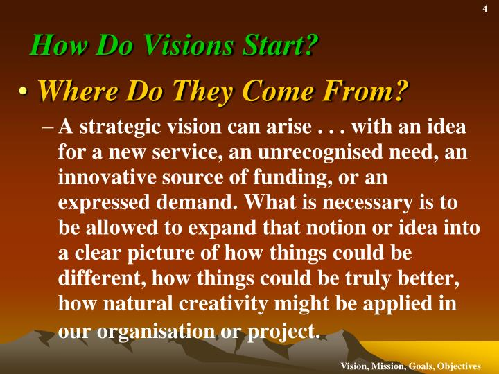 How Do Visions Start?