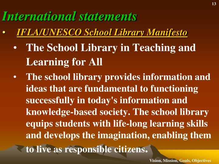 International statements