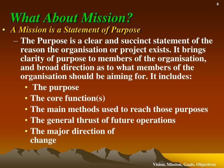 What About Mission?