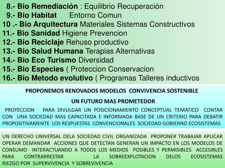 8.- Bio Remediación